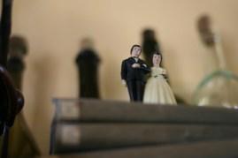 Figurines de mariage vintage