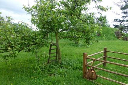 Une besace pleine de pommes, une échelle contre un pommier, où est le Hobbit ?