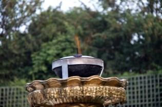 Lampe à huile dans le Bosquet de la Salle de Bal