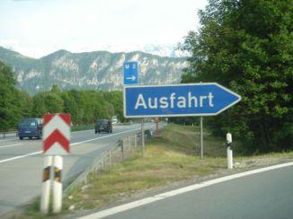 ausfahrt - this way