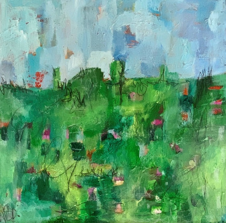 Spring Meadow III - an abstract image by Nicola Young