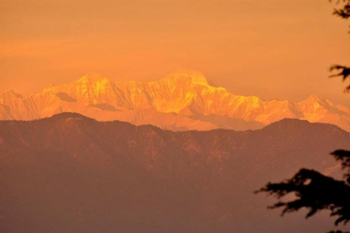 Himalayan range as seen from Landour
