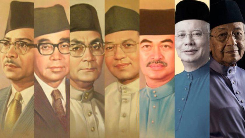 Aduhai bangsa melayu - pemimpin melayu yang menjadi perdana menteri sejak merdeka hingga sekarang.