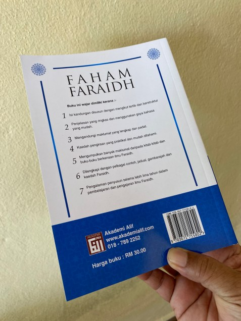 Faham Faraid maksud faraid nya jelas - sebuah buku ilmu faraid yang menyeluruh dan lengkap. Wajib dimiliki oleh setiap keluarg.
