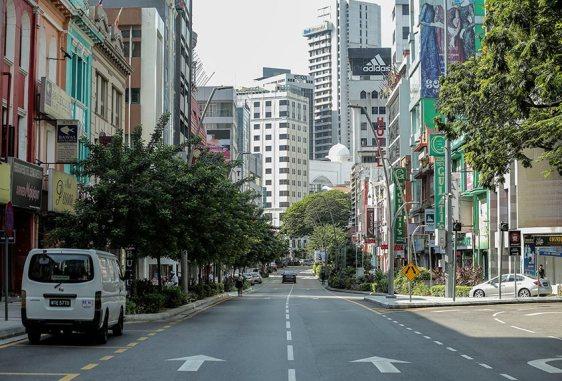 Jalan Tuanku Abdul Rahman tiada kenderaan kesan pengawalan Kerajaan kesan Covid-19