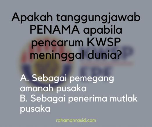 Penama KWSP orang Islam