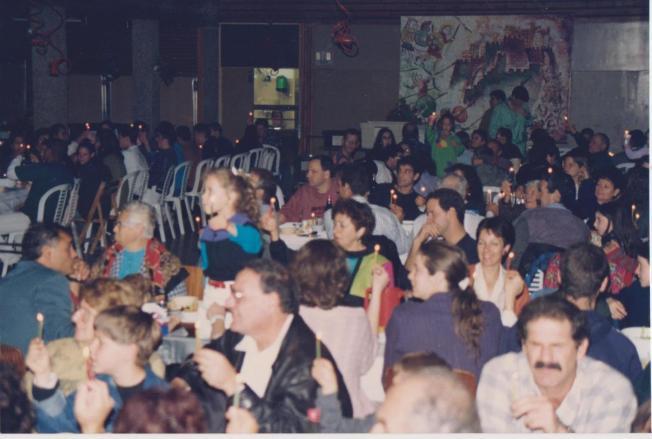 חנוכה 1992 בחדר האוכל