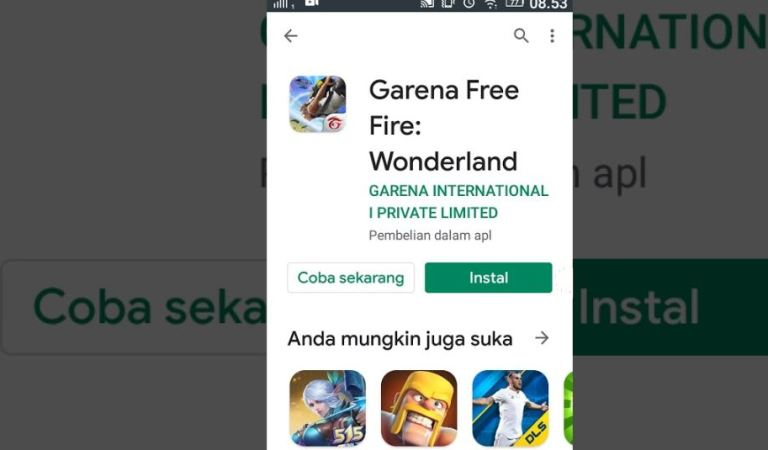 Cara Main Game Free Fire Tanpa Download