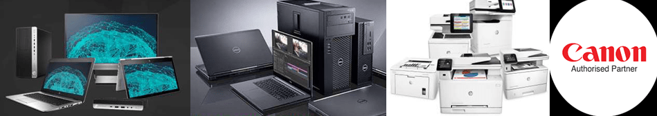 laptops, printers, desktops