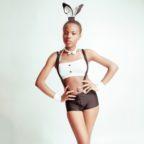 Black bunny lingerie