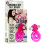 Dual Clit Flicker Cock Ring – Pink