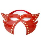 Feline Leather Mask with Cheeks Cover