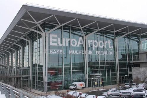 Der kleine Flughafen Basel - Mulhouse - Freiburg. Von hier sind wir zum ersten Mal geflogen.
