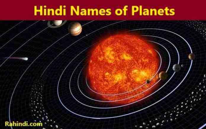 Hindi Names of Planets