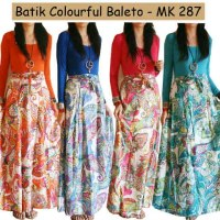 Batik Colourful Baleto Maxi Dress