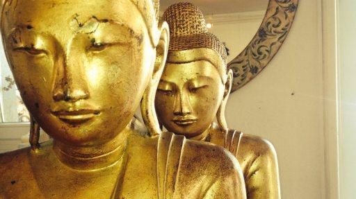 Blattvergoldeter Buddha