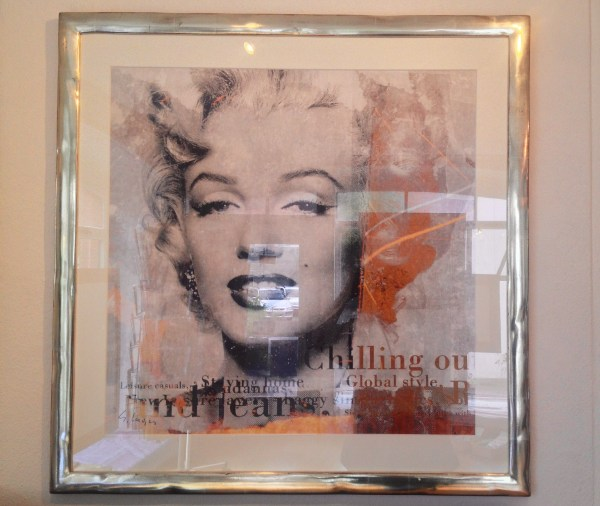 Kunstdruck in Weissgoldrahmen mit Passepartout