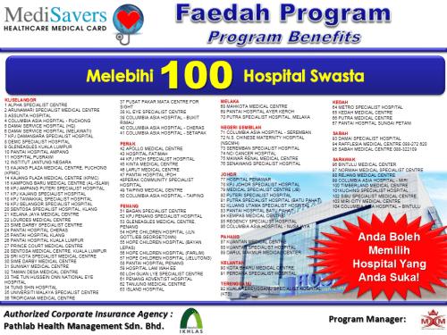 Lebih 100 Hospital Swasta