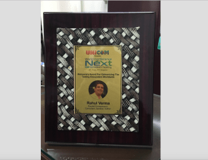 Honorary Award to Rahul Verma by Unicom