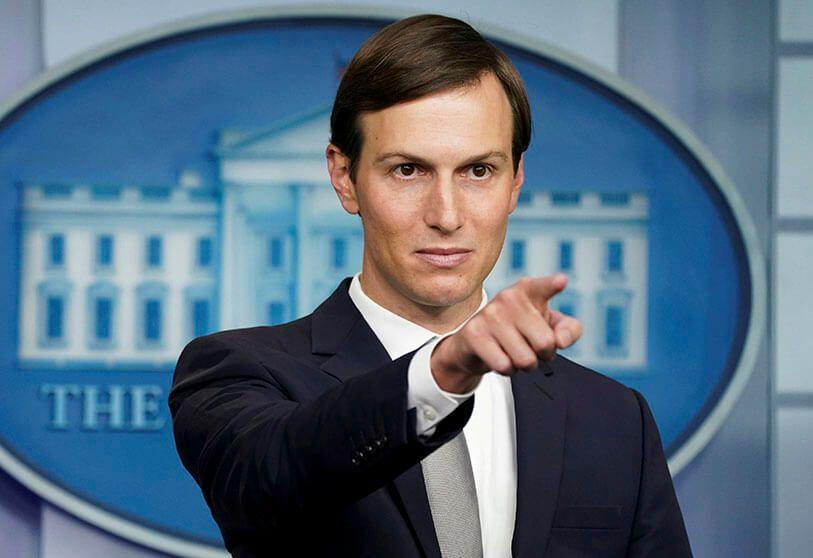 Jared Kushner, President Trump's Special Advisor on the Middle East leads the peace process in the Middle East.
