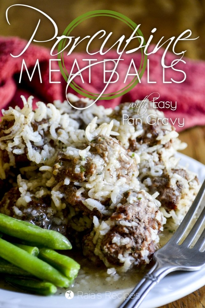 Delicious and easy, these gluten-free Porcupine Meatballs with Easy Pan Gravy will soon become a favorite at your table!