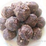 Chocolate Chocolate Doughnut Hole-ish Cookies {Gluten, Egg, Dairy & Sugar Free}