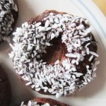 Dark Chocolate Banana Doughnuts