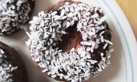 Dark Chocolate Banana Doughnuts