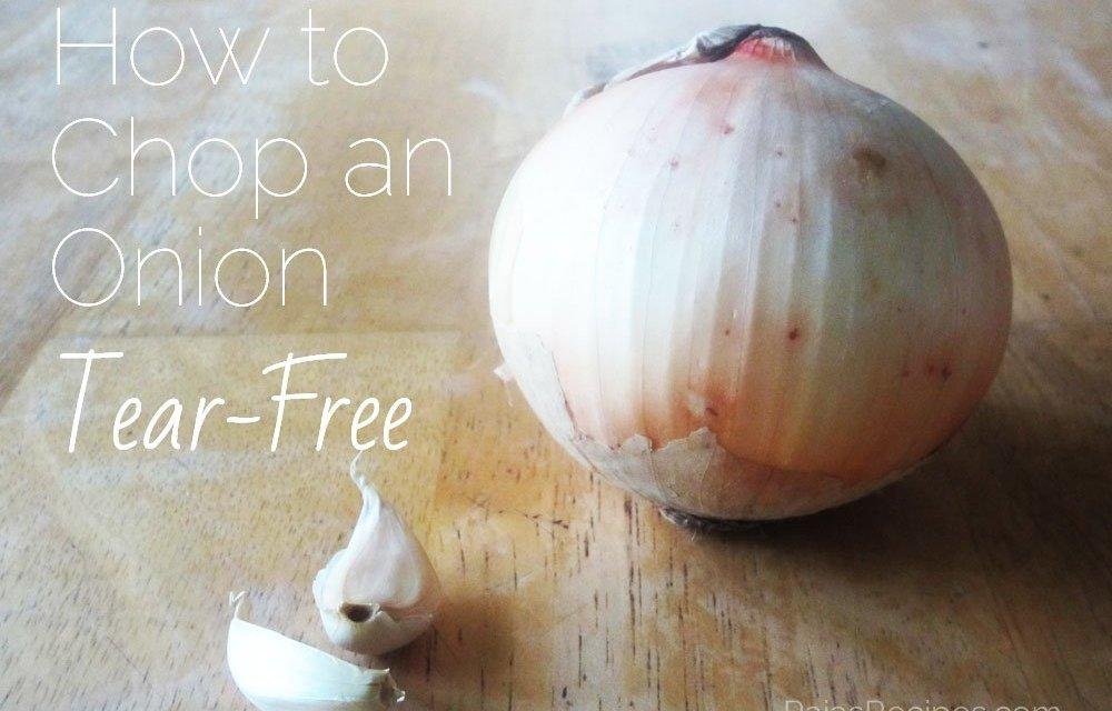 Tear-Free Onion Chopping