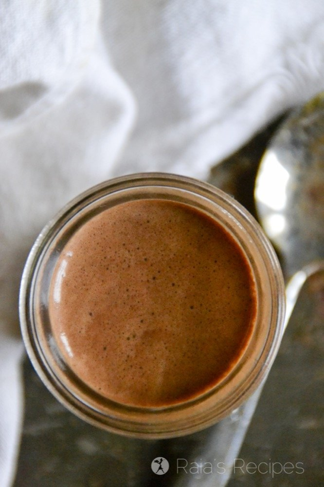 Need something quick and delicious to satisfy your chocolate cravings? These easy paleo Quick Fix Dark Hot Chocolate Shots are for you!   RaiasRecipes.com