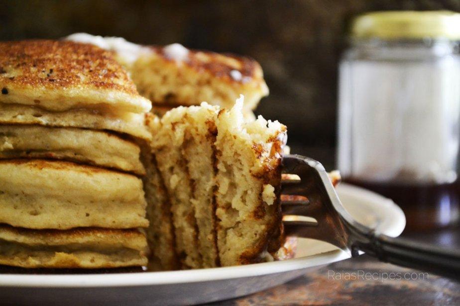 Easiest Fluffy Buttermilk Pancakes   gluten-free, sugar-free   RaiasRecipes.com