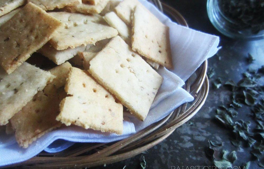 Gluten-Free Garlic & Herb Sourdough Crackers