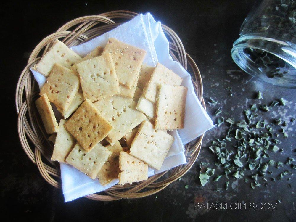 Garlic & Herb Sourdough Crackers | gluten-free, egg-free, sugar-free, with dairy-free option | RaiasRecipes.com