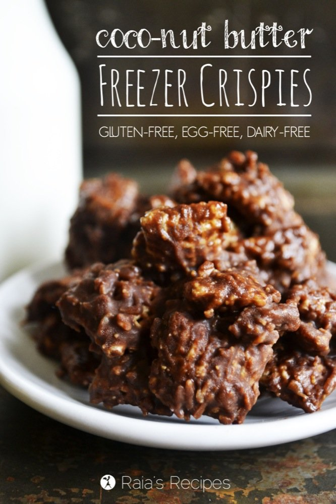 Coco-Nut Butter Freezer Crispies | gluten-free, egg-free, dairy-free | RaiasRecipes.com