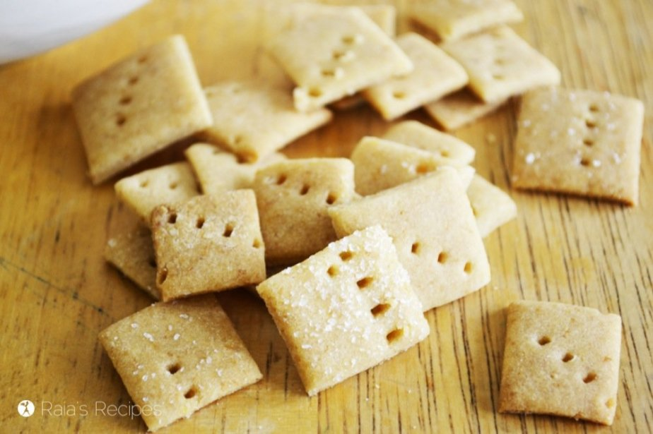 Gluten-Free Buttermilk Rice Crackers   RaiasRecipes.com
