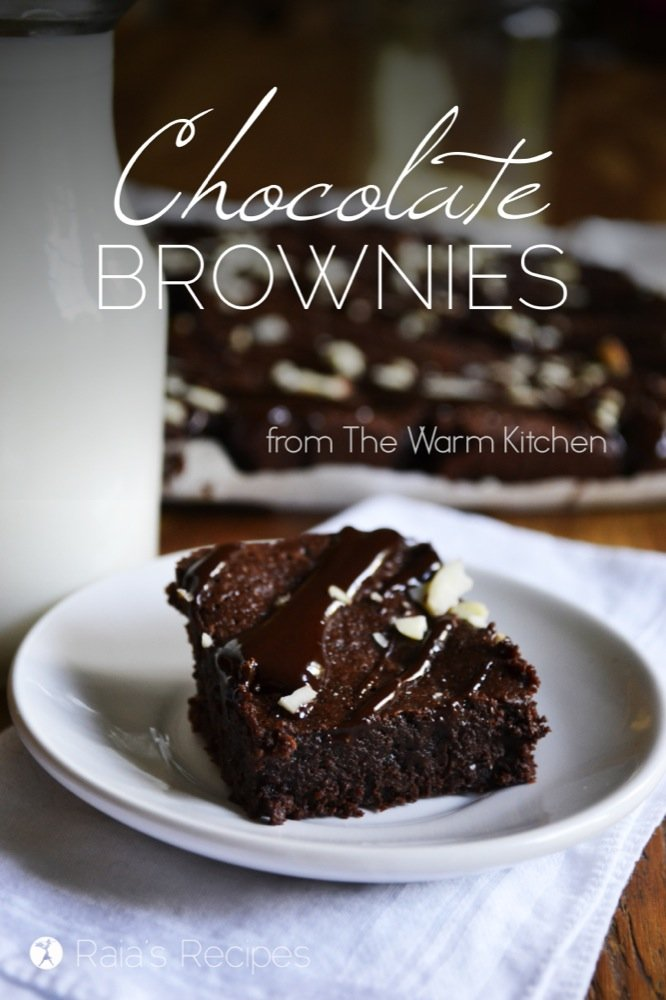 Gluten-Free Chocolate Brownies from the Warm Kitchen   RaiasRecipes.com