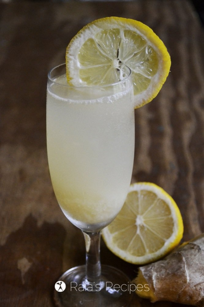 Relax and recharge with this delicious, health-infused Fizzy Ginger Lemonade from Keeping Your Cool | RaiasRecipes.com