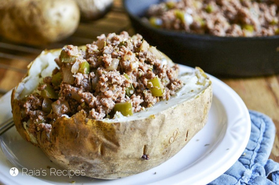 Easy and grain-free, these Sloppy Joe Baked Potatoes are a delicious twist on an American favorite dinner.