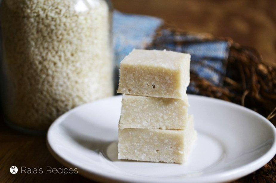 Sesame & Coconut Halva | RaiasRecipes.com