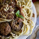Slow-Cooker Stuffed Italian Meatballs