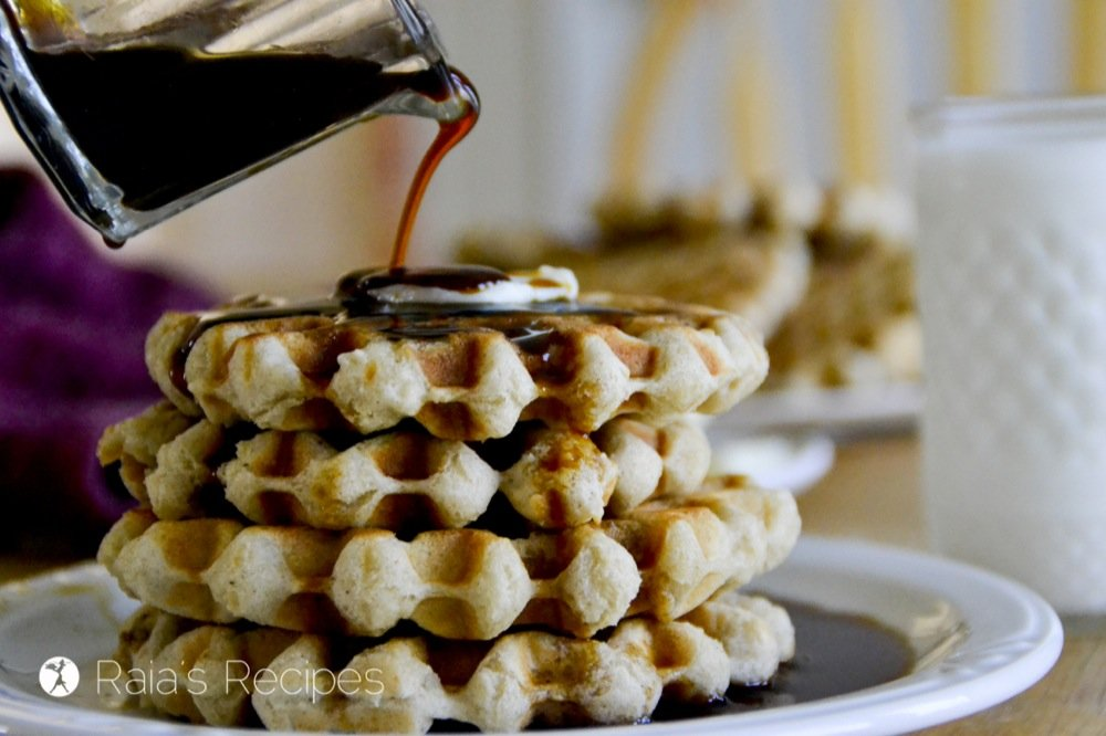 Announcing a new family favorite! Easy Gluten-Free Buttermilk Waffles, from my kitchen to yours. RaiasRecipes.com