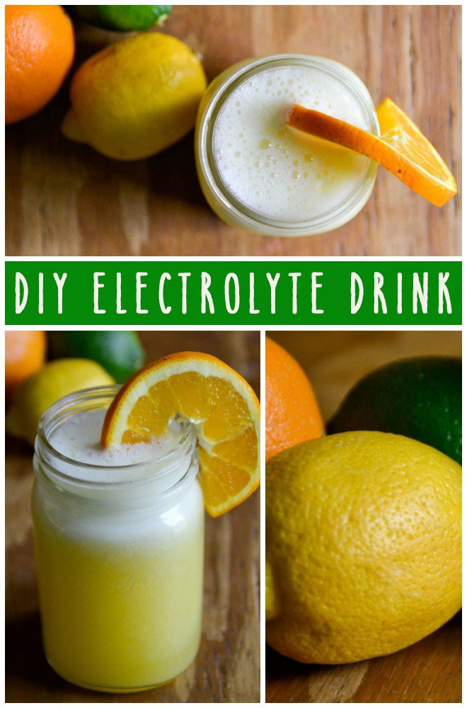 Heat got you down? Need to replenish after a workout? This easy and delicious DIY electrolyte drink is just what you need. | RaiasRecipes.com