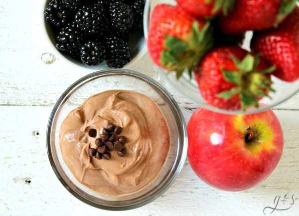 at Skinny Chocolate Fruit Dip for One from Grounded & Surrounded Allergy Free Thursdays Weekly Gluten-Free Linky Party | RaiasRecipes.com