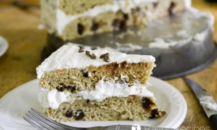 Giant Chocolate Chip Cookie Cake with Whipped Cream Frosting