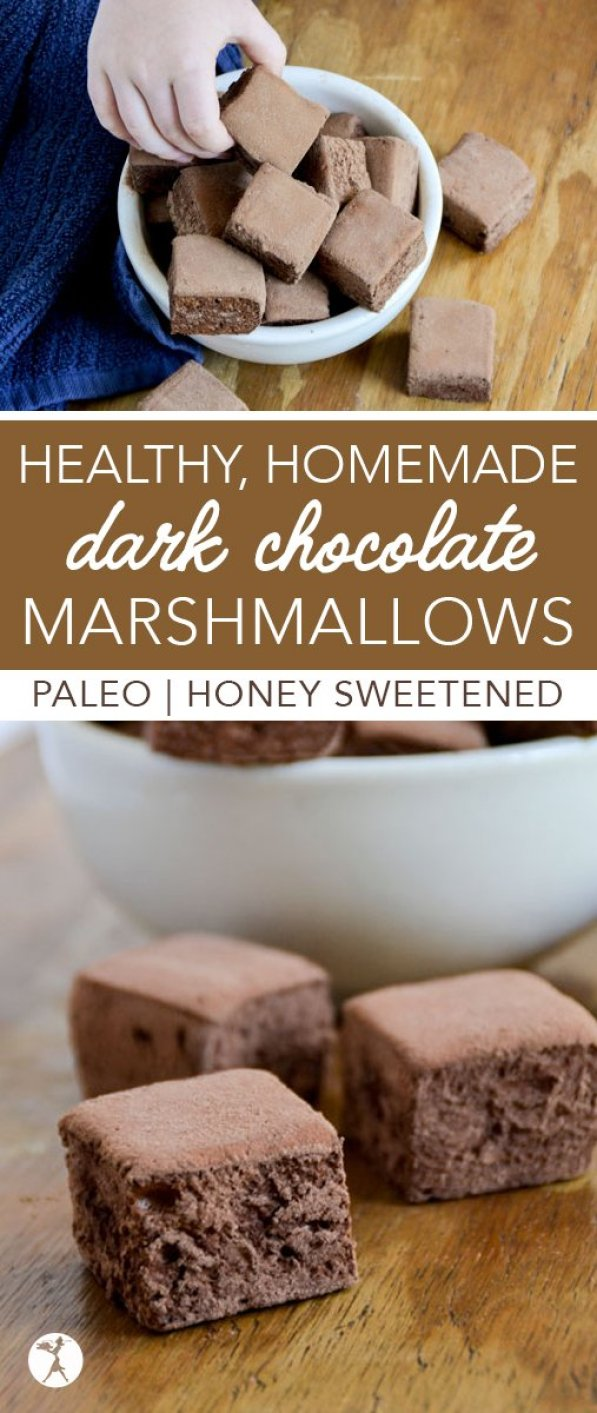 Are you a chocolate fan? Kick your s'mores or homemade hot cocoa up a notch withthese paleo HealthyDark Chocolate Marshmallows!