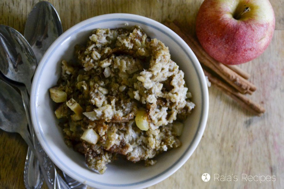 Soaked Maple Apple Baked Oatmeal