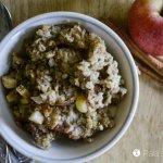 Soaked Maple Apple Baked Oatmeal
