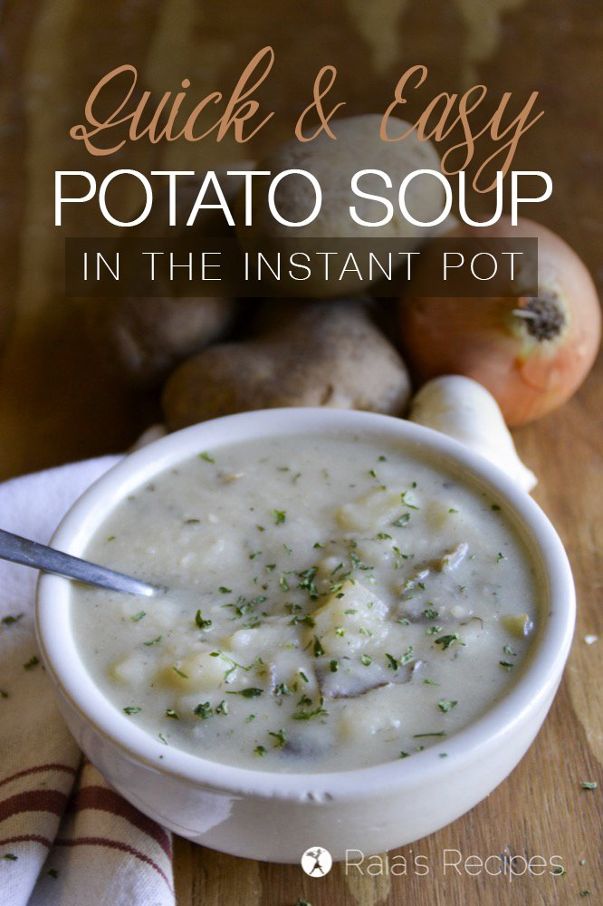 Hearty and comforting, this grain-free, quick and easy potato soup will be sure to become a regular in your house. | RaiasRecipes.com