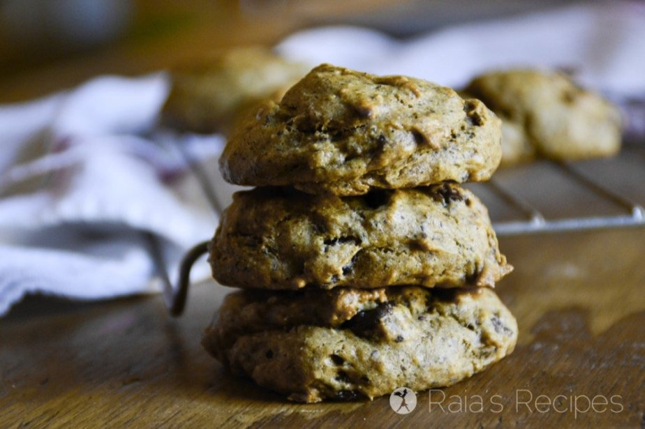 Perfectly chewy and surprisingly healthy, these grain, egg, and dairy-free Banana Nut Butter Cookies are just the treat you need!   RaiasRecipes.com
