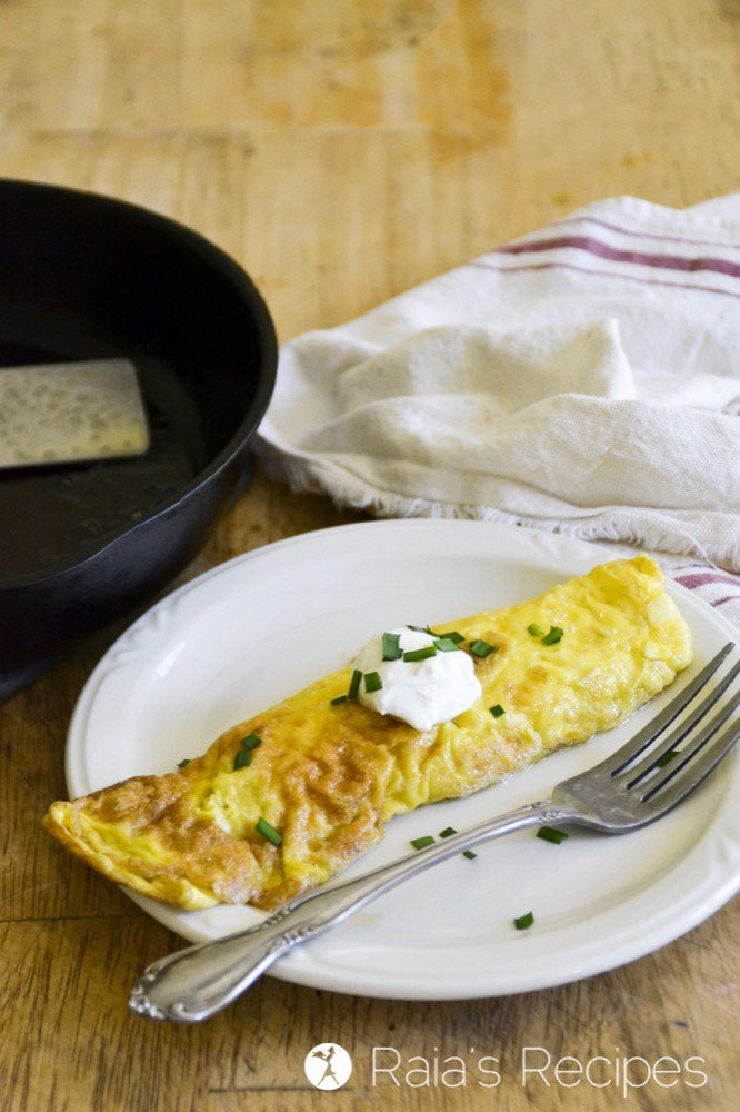 French style omelette 1
